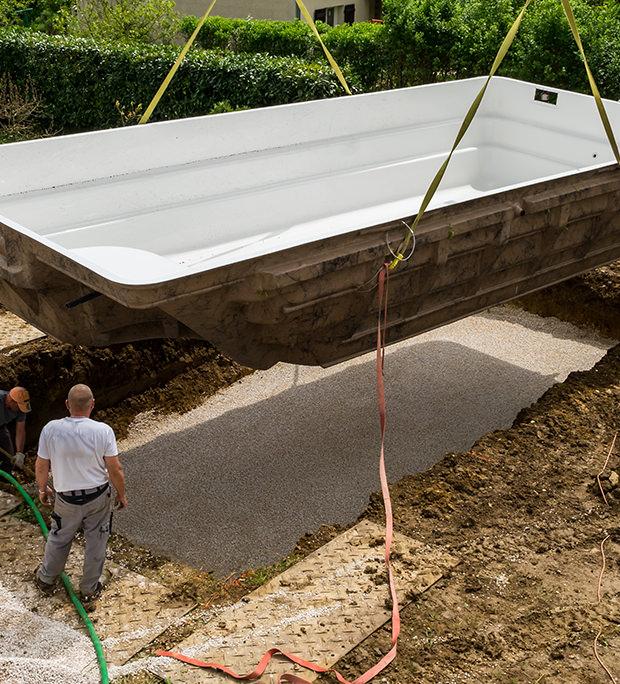 terrassement de piscine à Troyes dans l'Aube